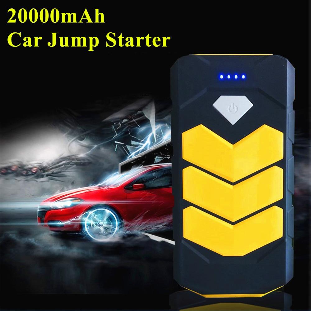 2019 dispositif de démarrage d'urgence 20000 mAh chargeur de voiture Portable 12 V Diesel essence chargeur de voiture pour voiture Booster de batterie