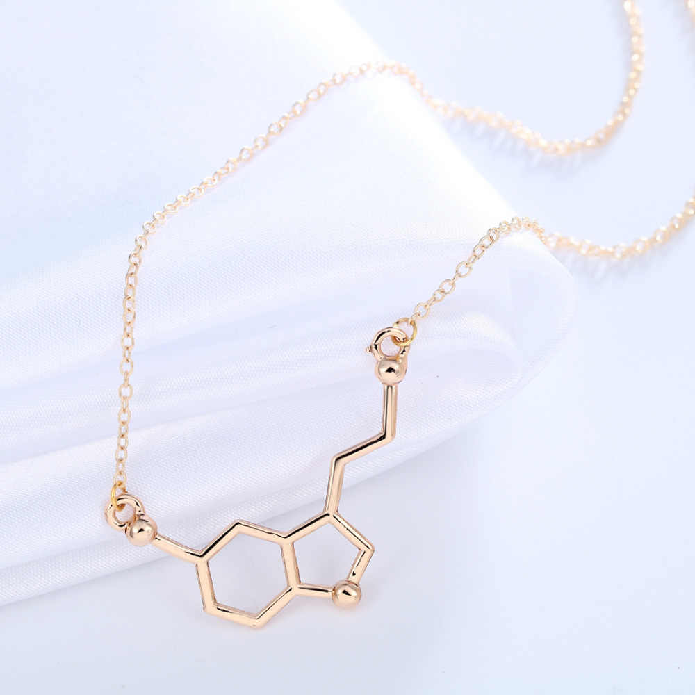 Kinitial Serotonin Phân Tử Hóa Học Cổ Độc Đáo Mặt Dây Chuyền Vòng Cổ Tối Giản Phân Tử 5-ht Món Quà Trang Sức Dành Cho Bé Gái Nữ