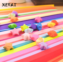 (24Packs)Children DIY Folding star paper Wishing Star Strips Handmade Paper Stars Lucky Origami Handcraft Toys