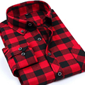 Men Social Plaid Shirts 2016 Fashion Brand Slim Long Sleeve Shirts Business Dress Shirts Male Social Camisa Chemise Homme 5XL 50