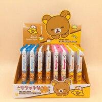 48Pcs/lot Creative Cute Bear Rilakkuma Ballpoint Pen 2 Color Blue Red Roller Ball Pens Office School Supplies Promotion Gift