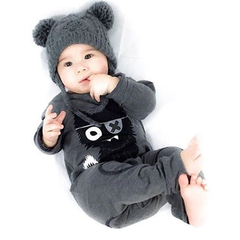 2016 spring fashion baby boy/girl clothes long sleeve baby rompers newborn cotton Little Monsters jumpsuit infant clothing bebes baby rompers baby clothing fashion summer cotton infant jumpsuit newborn long sleeve girl boys rompers costumes bebes romper