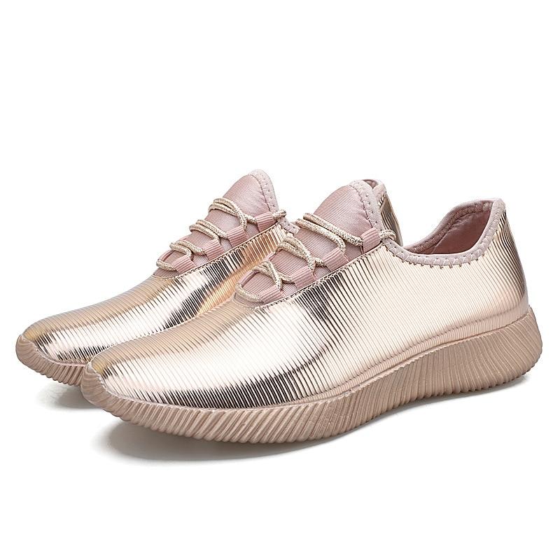 Casual Women Sneakers 2019 Glitter Gold