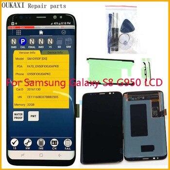 Para Samsung Galaxy S8 G950F G950U G950FD pantalla Lcd Digitalizador de pantalla táctil pantalla Super AMOLED sombra quemada envío gratis