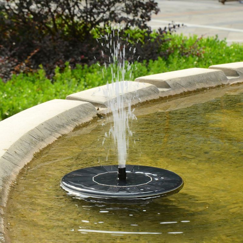Adeeing Outdoor Flower-shape Solar Powered Floating Fountain For Pond Garden Decoration Lights & Lighting