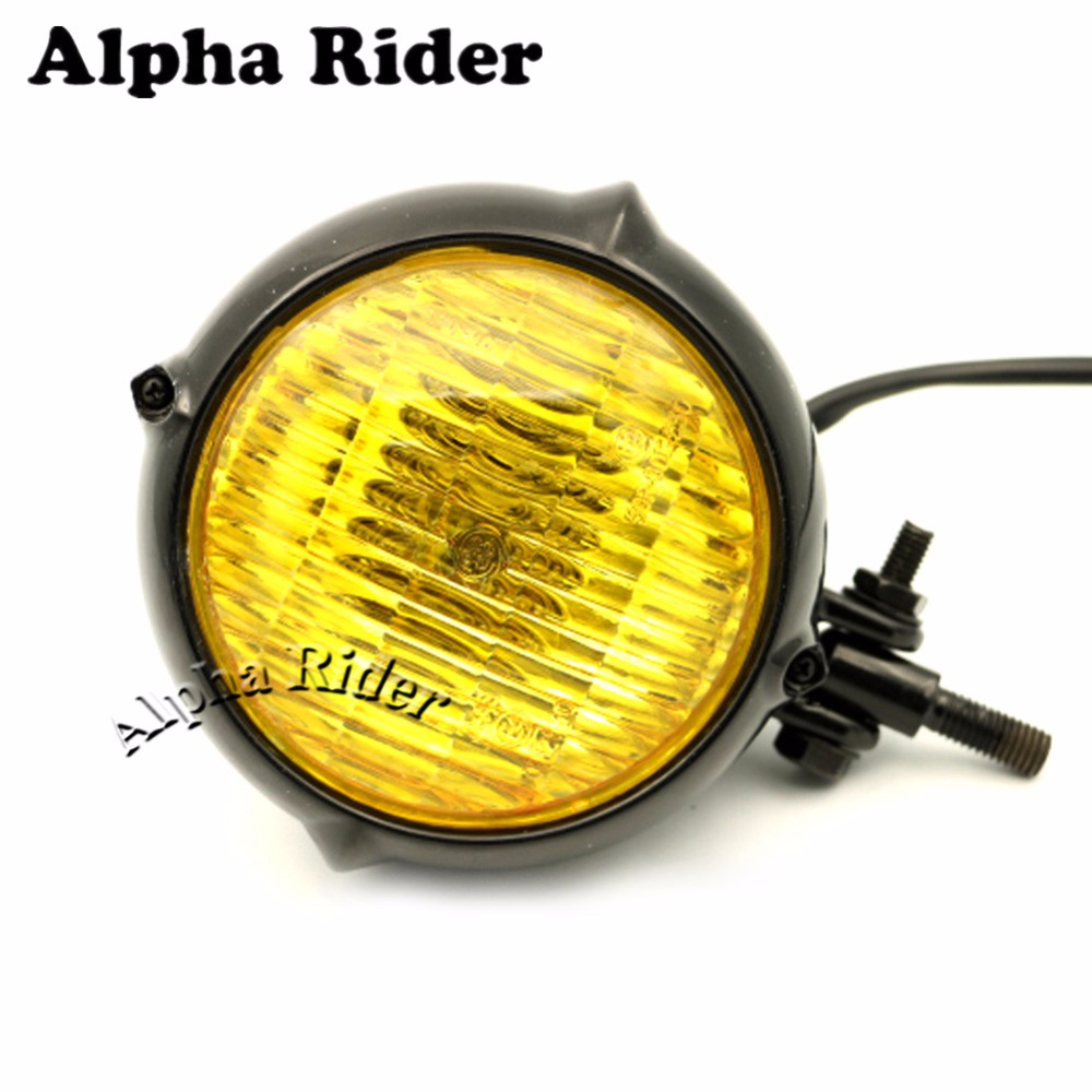 Vintage Style Black Motorcycle Headlight Retro Cafe Racer Bobber Chopper Cruiser