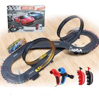 Électrique piste de course voiture 1/43 620 cm rail Rouleau De route double RC jouet pour garçons cadeau enfants voitures jouets éducatifs jouets pour enfants
