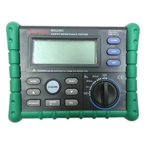 Mastech MS2302 Измеритель сопротивления заземления цифровой измеритель сопротивления изоляции ЖК-дисплей 100 групп диагностический инструмент да...