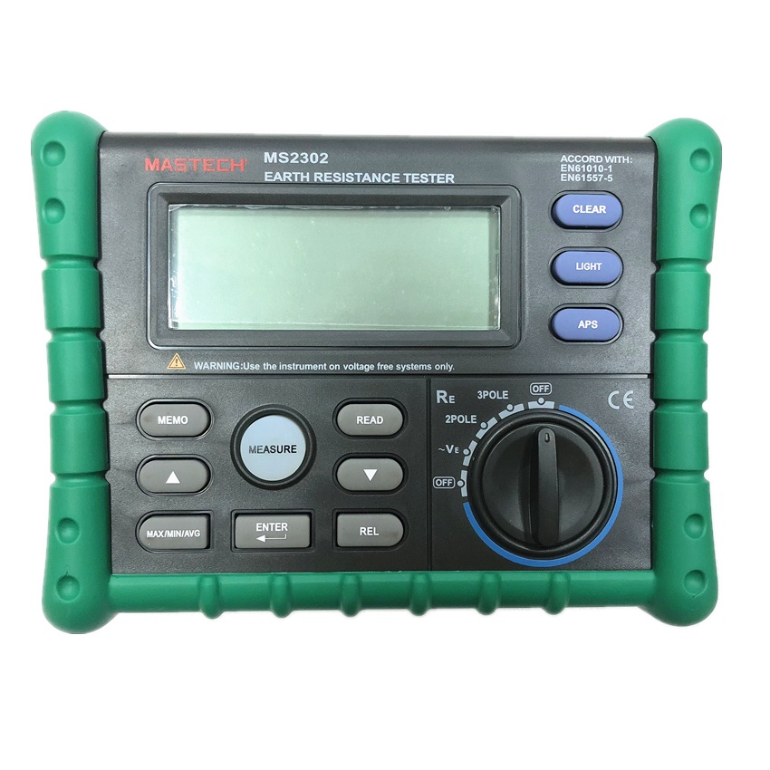 Mastech MS2302 Earth Ground Resistance Tester Digital Megger Insulation Meter LCD Display 100 Groups Data Diagnostic-tool 200VMastech MS2302 Earth Ground Resistance Tester Digital Megger Insulation Meter LCD Display 100 Groups Data Diagnostic-tool 200V