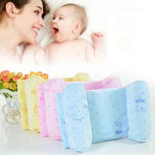 3 colores bebé recién nacido suave cóncavo almohada memoria espuma posicionador previene cabeza plana Anti rollo bebé cabeza apoyo almohada