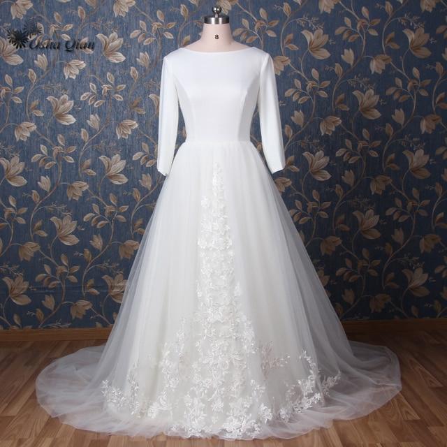 Langarm Moslemisches Hochzeitskleid 2017 Winter Gericht Zug Arabisch ...
