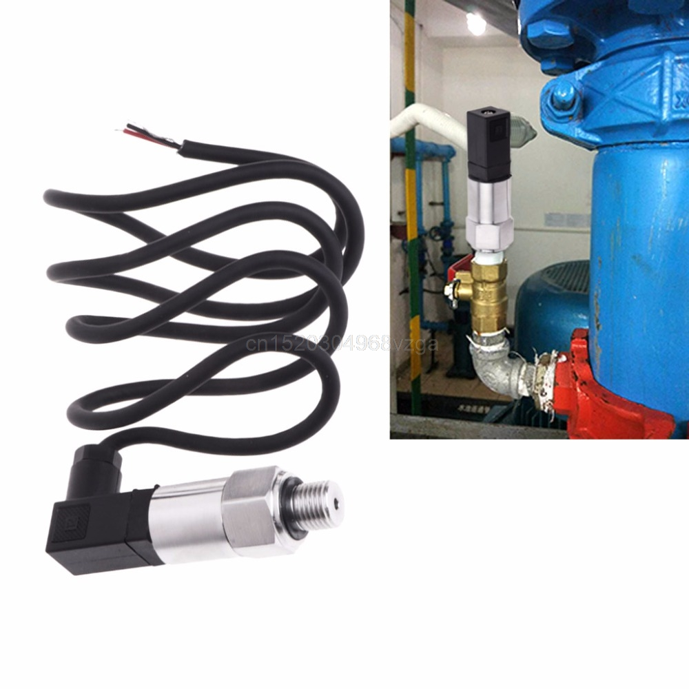 Pressure Transmitter Stainless Steel Pressure Transducer Range 0-16bar 9-32VDC G1//4 4-20mA Output