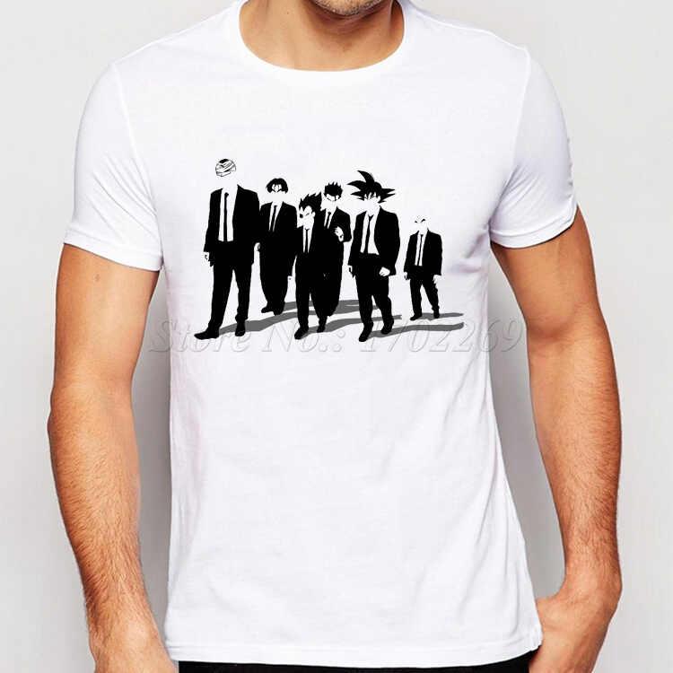 Дешевая футболка на тему мультфильма «Драконий жемчуг зет» с надписью Футболка мужская бить Гоку Krillin высокого Повседневное Модная Футболка Camiseta Костюмы