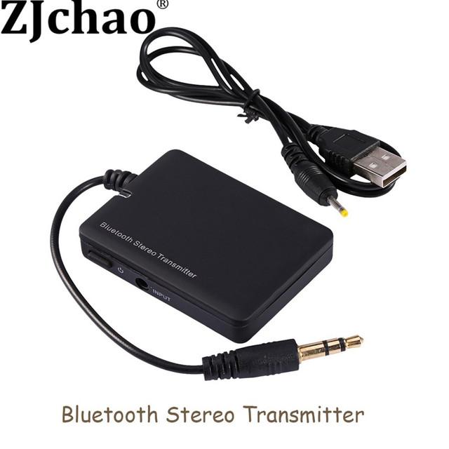 Mini de 3.5mm Estéreo Bluetooth Transmissor de Áudio Sem Fio Bluetooth A2DP Música Transmissor Adaptador para Mp3 Mp4 CD TV PC