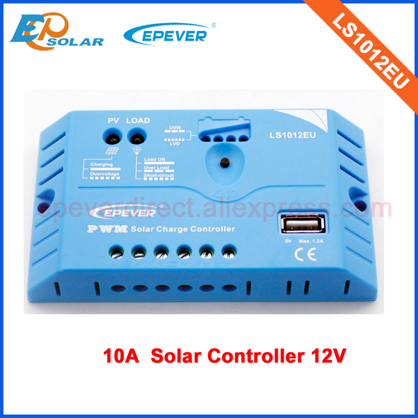 10A regulator PWM EPEVER Free Shipping Solar power controller with USB output charge mobile phone or fans,12V system voltage solar power panel controller pwm 10a dual usb output mobile phone charging hd display wwo66