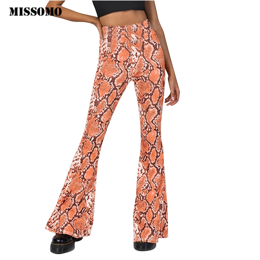 New Floral Print Womens Summer Trousers Flared Leg Palazzo Elasticated Waist