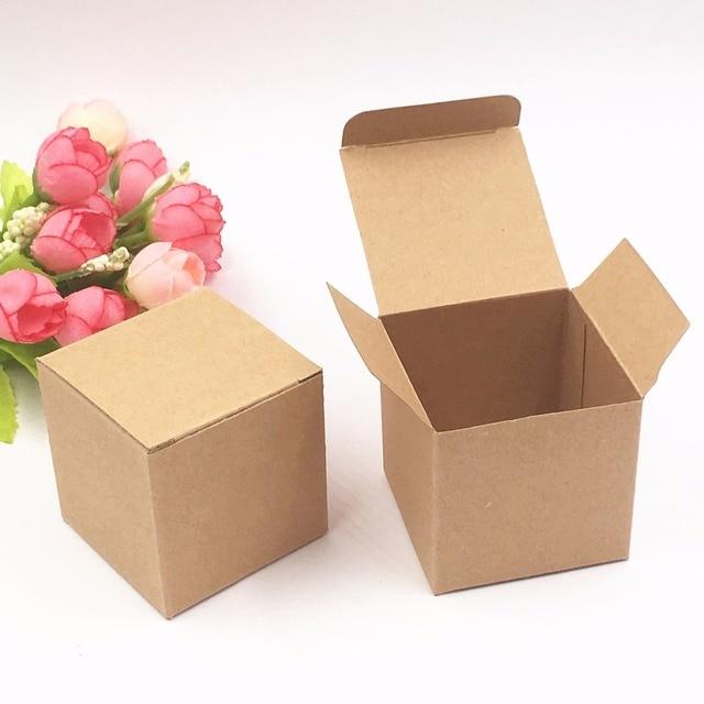 20pcs lot 5 5 5cm kraft paper square gift packing boxes diy handmade