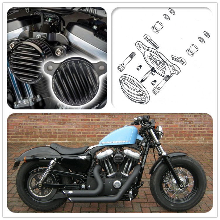 Bjmoto Motorcycle Air Cleaner Kits Intake Filter For Harley Sportster XL 883 1200 2004-2016 Sporter XL 1991-2016 48 72 2010-2016 автоакустика cadence xbp122