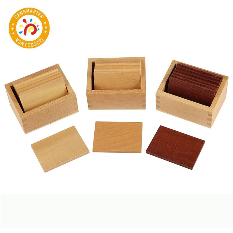 Montessori enfants jouets de haute qualité en bois Baric comprimés avec boîte éducation préscolaire de la petite enfance formation