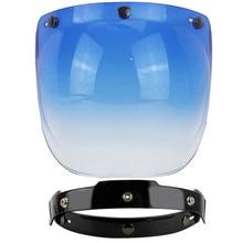 Specchio 3-scatta vintage retro jet casco del motociclo bubble shield visor shield obiettivo di vetro Beon Torc Gxt viso aperto casco occhiali