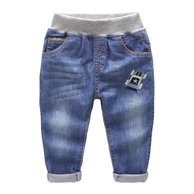 Muchachos de los pantalones vaqueros Nuevos Cabritos Del Bebé pantalones de algodón pantalones de niño del todo-fósforo