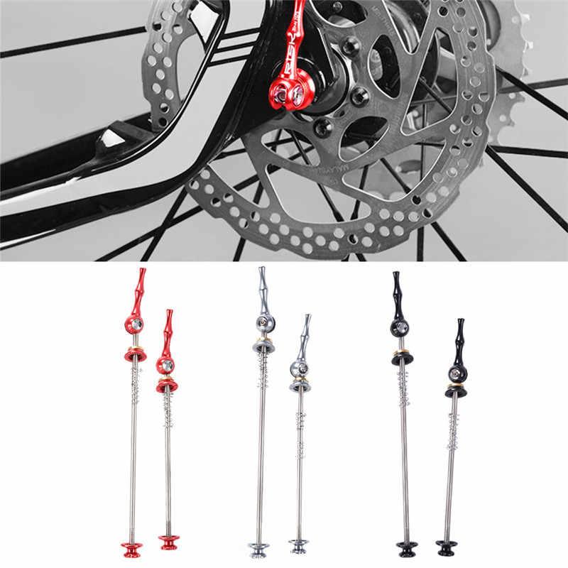 1 زوج دراجة سريعة الإصدار التيتانيوم أخف CNC سبائك MTB الطريق الدراجة أسياخ رافعة تحمل محور دراجة أجزاء
