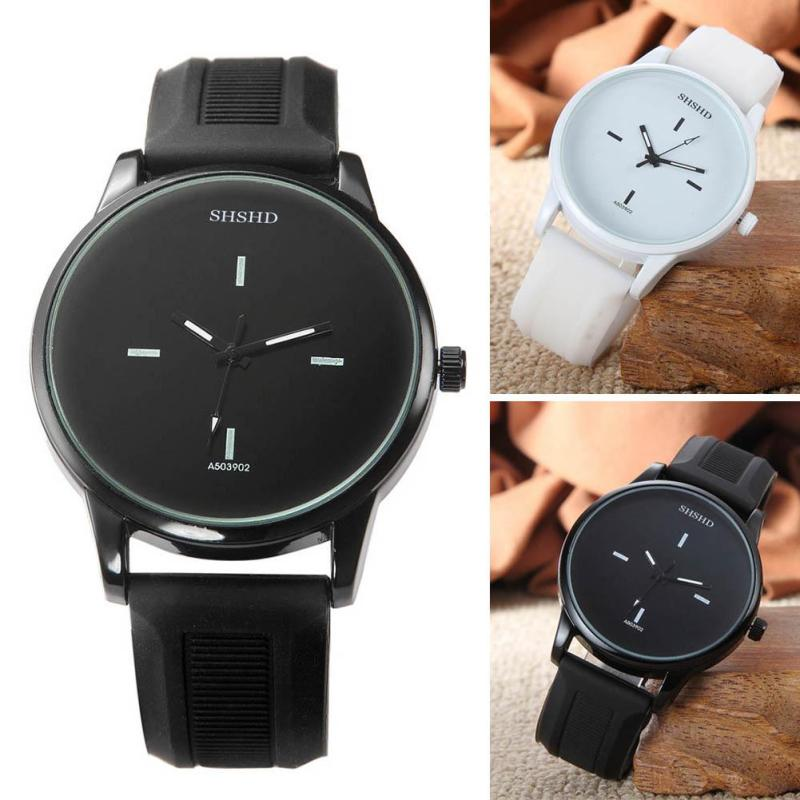 New Quartz Watch Man Women Black White Simple Watches Students Male Female Wristwatch Analog Leather Watchband Relogio Horloge hand made mens wooden bamboo quartz watch black genuine leather watchband simple unique modern wristwatch gift for male female