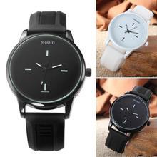 New Quartz Watches Men Clock WOMAN Black White Simple Ladys Watch Students Male Female Wristwatch Silicone Band relogio feminino
