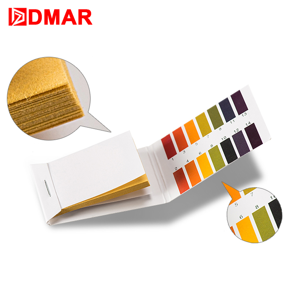 DMAR 3pcs Swimming Pool Spa Water Test Strips PH1-14 Pool Tools Cleaner Accessories Equipment