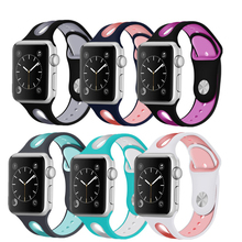 Colorful Rubber Sport Silicone strap For Apple watch series 3 2 1 Iwatch band 42mm 38mm bracelet wrist belt watchband