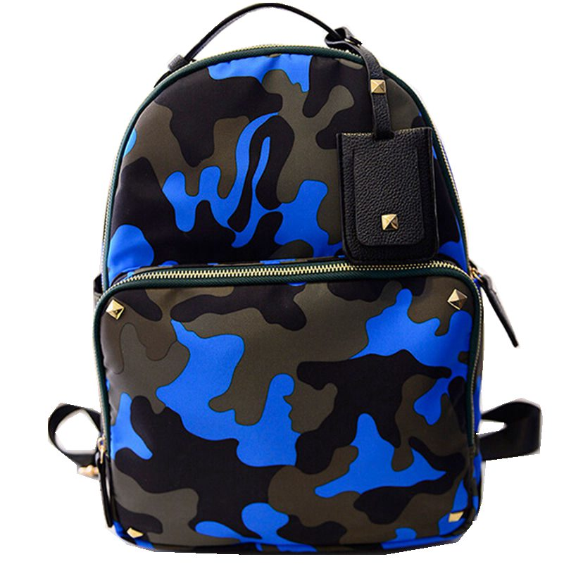 New Fashion Brand Camouflage Backpacks High Quality School Bags for Girl Young Women Bag Travel Backpack Free Shipping Promotion tcttt new 2016 travel bag women laptop backpacks girl brand rivet backpack fashion chains knapsack school bags for teenagers