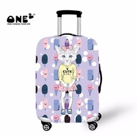 ONE2 2017 New Design Lovely Skirt Cat Travel Luggage Cover Apply To 18 30 Inches Trolley