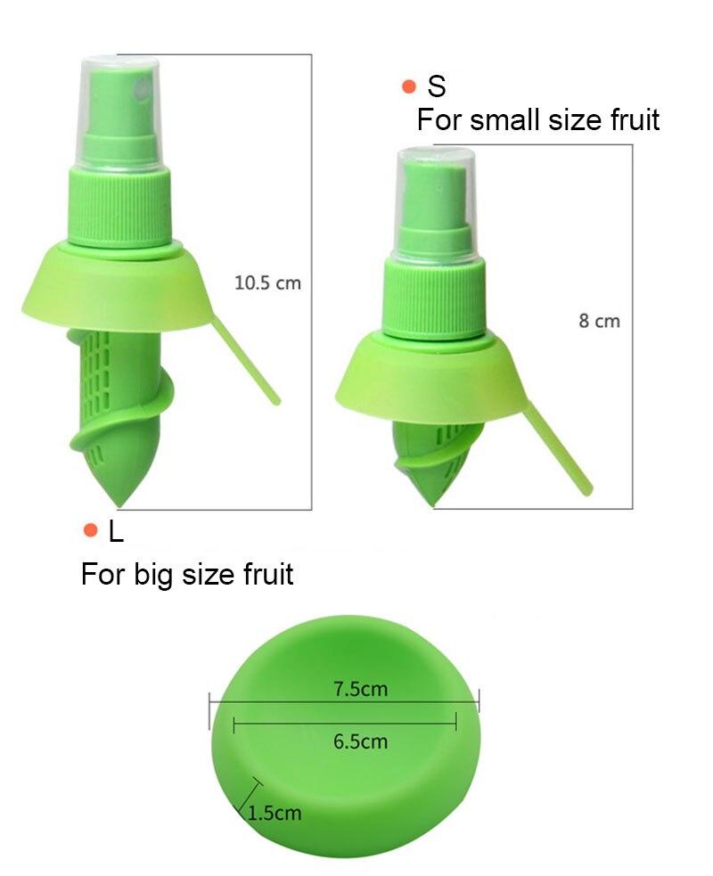 2Pcsset Home Kitchen Gadgets Lemon Orange Sprayer Fruit Juice Citrus Spray Cooking Tools Accessories Accesorios De Cocina5