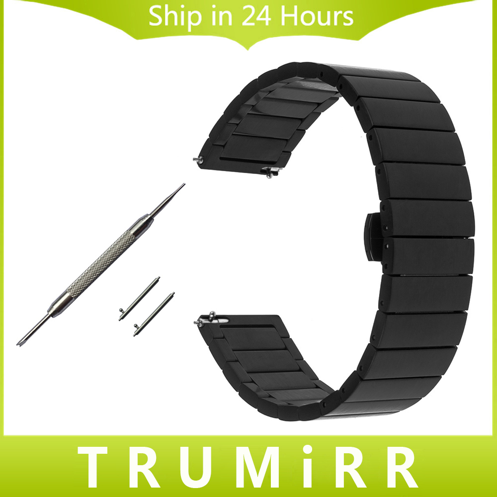 18mm 20mm 22mm Stainless Steel Watch Band Quick Release Strap for Seiko Butterfly Buckle Wrist Bracelet Black Rose Gold Silver quick release stainless steel watch band 20mm 22mm for luminox men women butterfly buckle strap wrist bracelet black gold silver