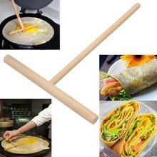 1 шт. блинница для Блинного теста, палочка для Блинный инструмент, деревянные инструменты для кухни дома китайское особенное блинница OK 0881