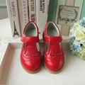 2016 nuevo Cuero Genuino de Los Niños zapatos de Niños zapatos de Las Muchachas Zapatos de La Princesa sx1423