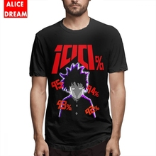 For Male Mob Psycho 100 Tee Streetwear Homme Kageyama Shigeo Shirt O-neck S-6XL Plus Size Camiseta