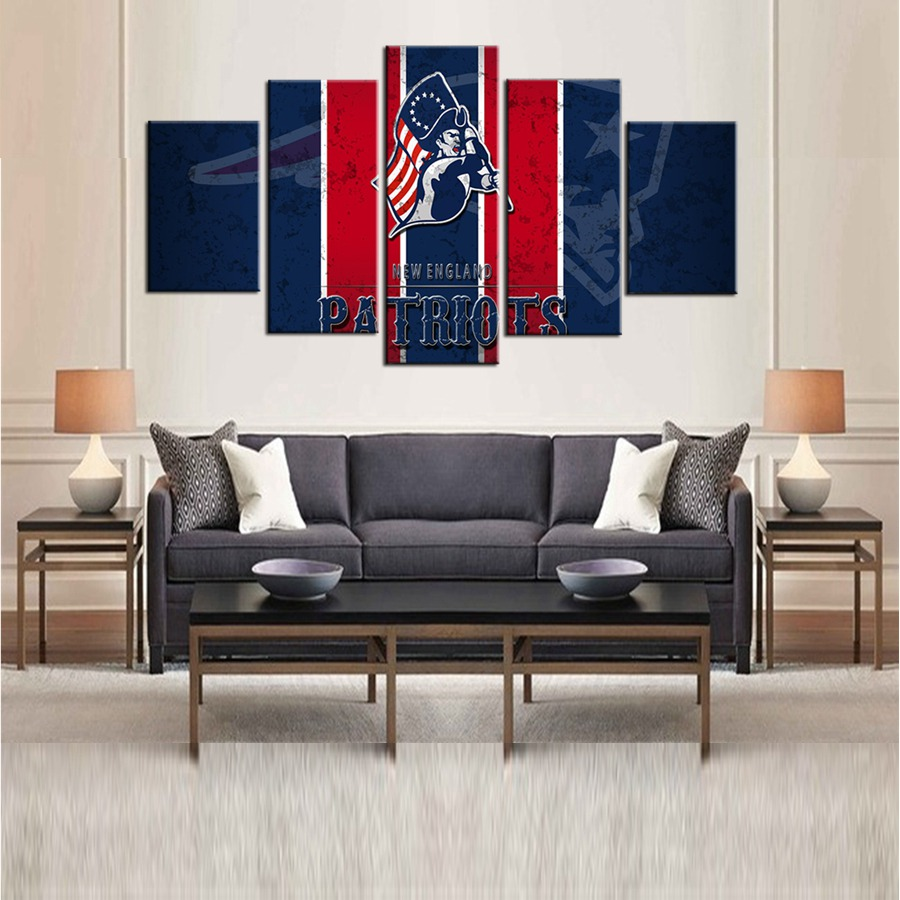 Patriots Wall Art 5 pieces new england patriots wall art picture modern home