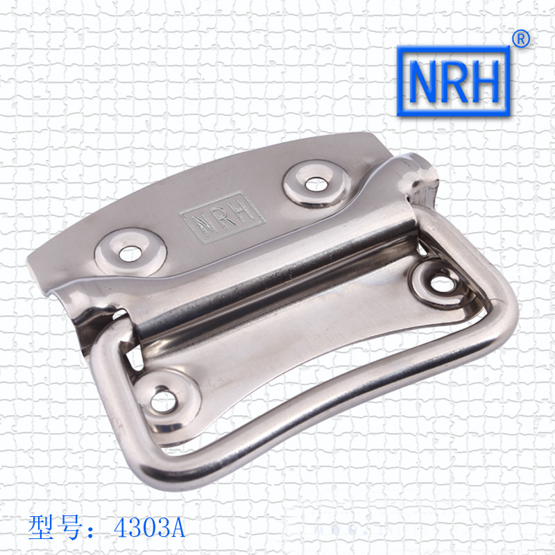 NRH4303A SUS304 stainless steel handle flight case handle Spring handle Factory direct sales Wholesale price high quality handle m75 750kgs pulley 304 stainless steel roller crown block lifting pulley factory direct sales all kinds of driving pulley