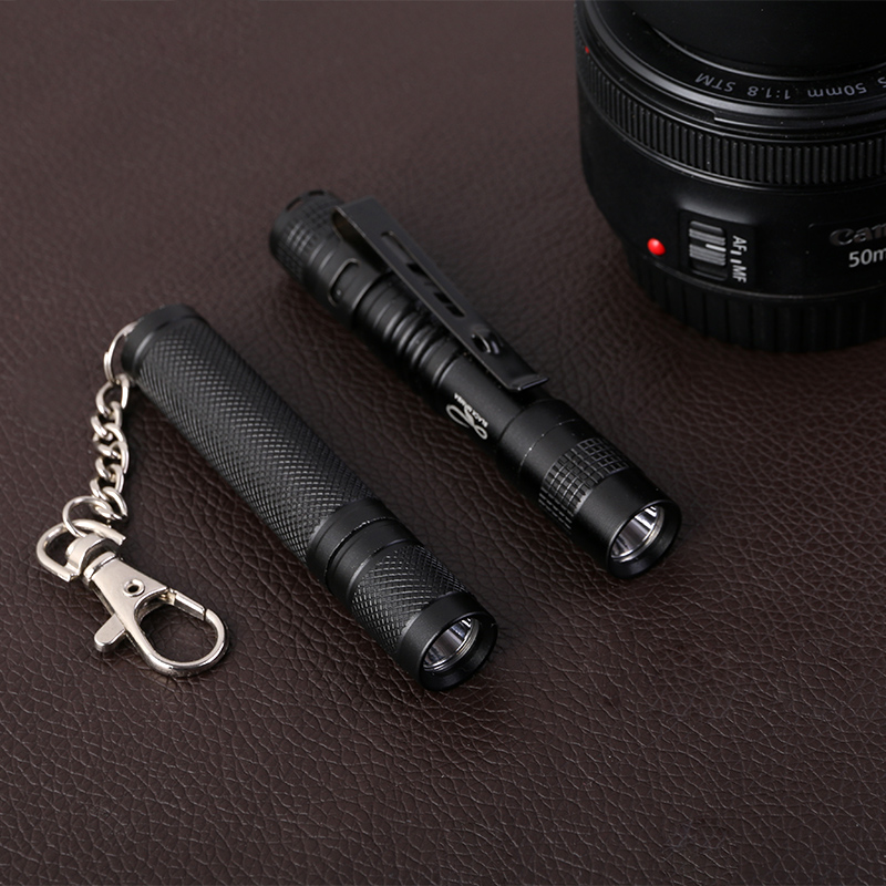 Купить с кэшбэком Mamba Portable Mini Penlight XPE-R3 LED Flashlight Torch Hugsby XP-1 Pocket Light 1 Switch Modes Outdoor Camping Light USE AAA