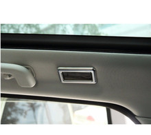ABS Chrome Reading Light Lamp Decoration Frame Cover Trim For Land rover Discovery Sport 2015-2017 Car Accessories Styling 2pcs black dark ash wood grain abs chrome trims interior cover trim frame decoration car styling for land rover discovery sport 15 17