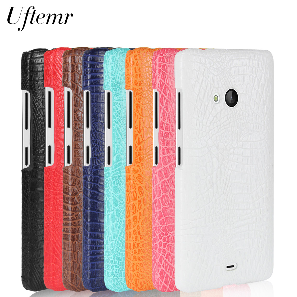 Uftemr Case for Nokia Lumia 640 XL 650 540 950 N550 Crocodile PU Leather Back Cover Hard Plastic PC Phone Cases Acessories