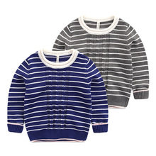 The boy pullovers in the spring and autumn Baby stripe cotton knitted sweaters, children's wear the new 2016 The boy's sweater