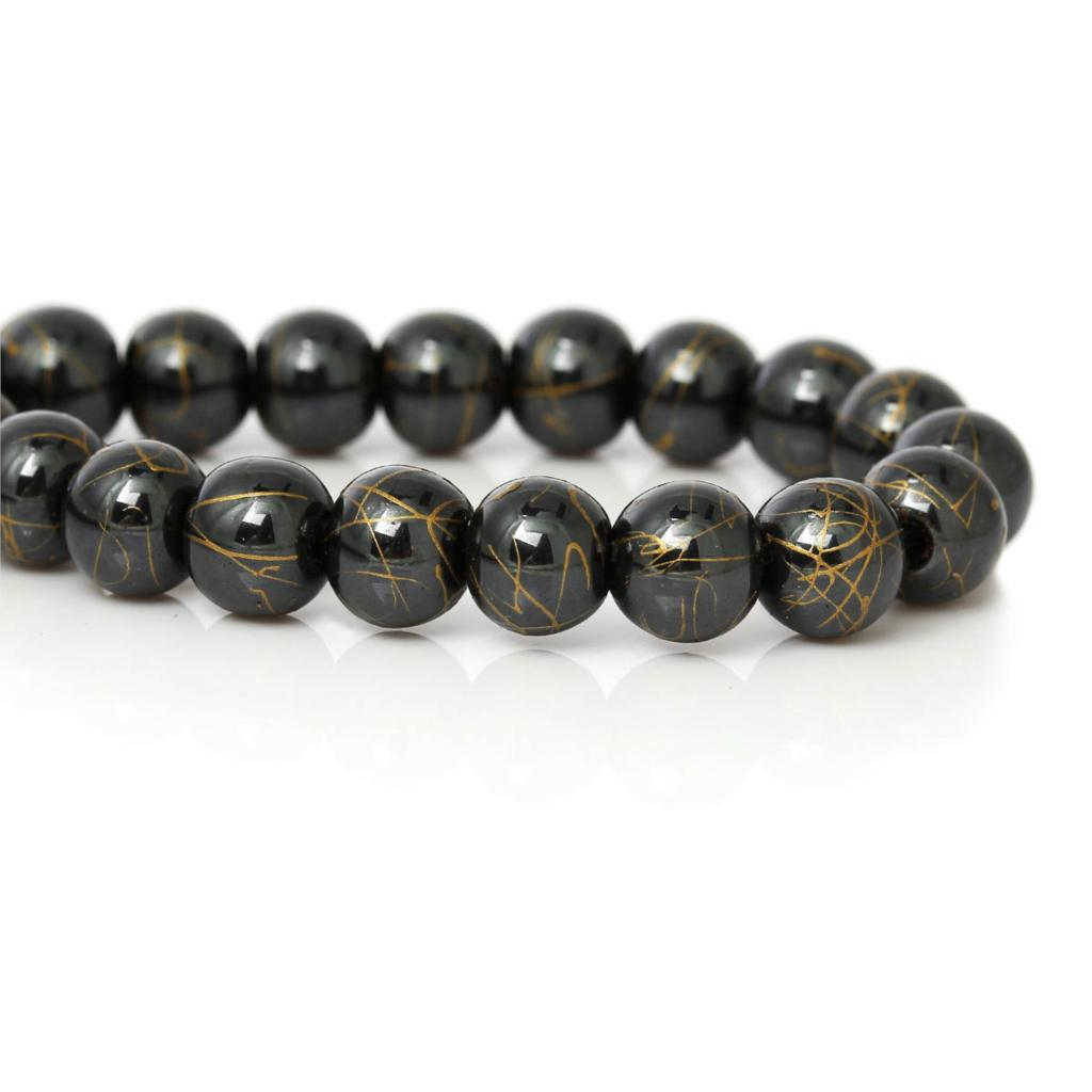 large products eklexic beads gunmetal bracelet hematite bead skull