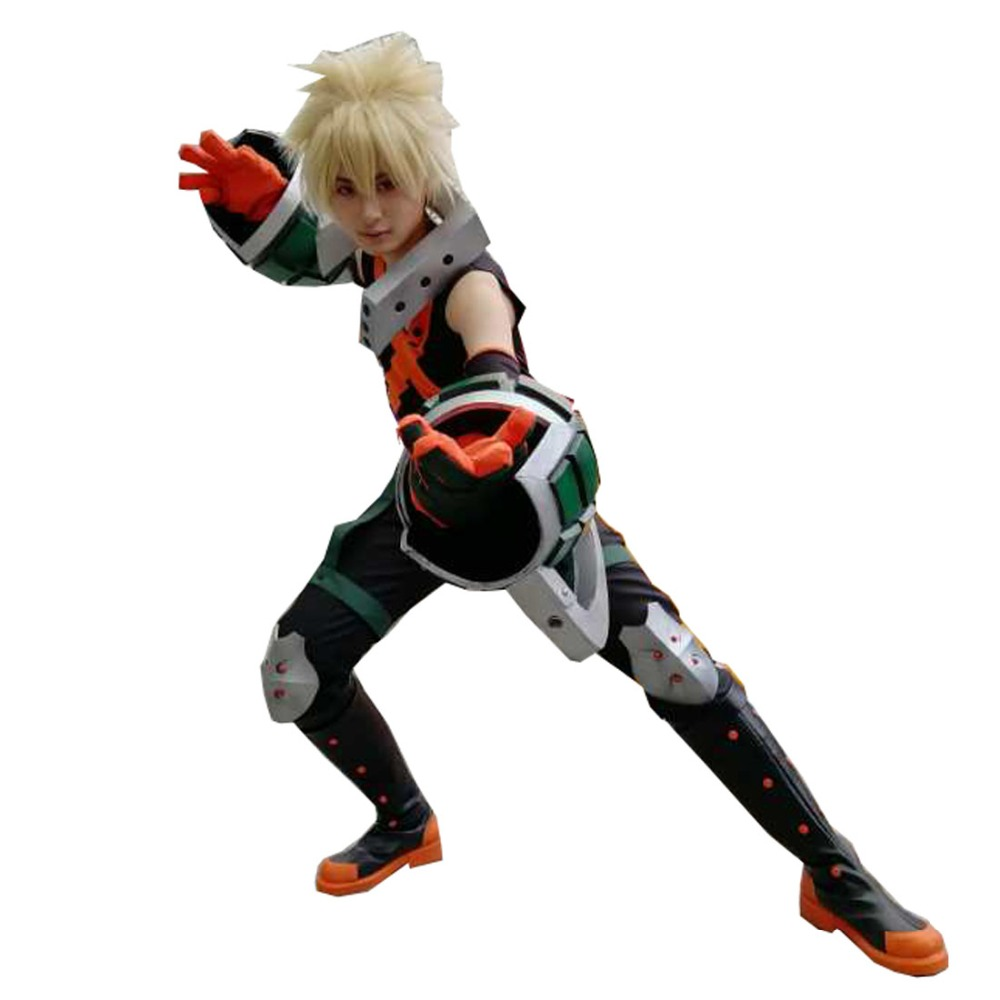 2019 Katsuki Bakugo Hero Battle Uniform Boku No Hero Academia My Hero Academia Cosplay Bakugou Katsuki Battle Suit(Costume Only)