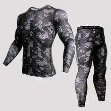 Мужские компрессионные костюмы для пробежек комплект спортивной