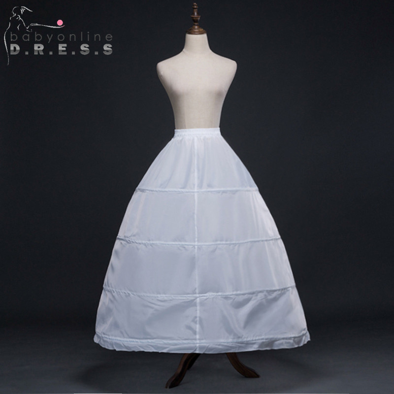 1827253d62 Hot Sale 4 Hoops White Ball Gown Lace Edge Wedding Accessories Slips  Crinoline Petticoats For Wedding Dress Underskirt