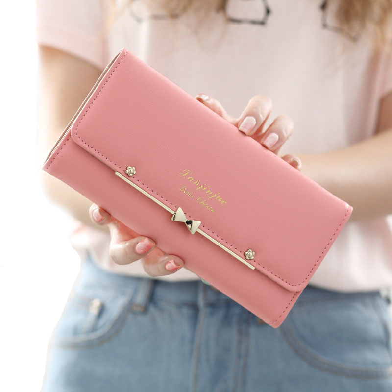 Women's Purse 2017 Fashion PU Leather Wallets Womens Money Card Holder Pink Female Zipper Wallet Coin Wallets Drop Nbxq222