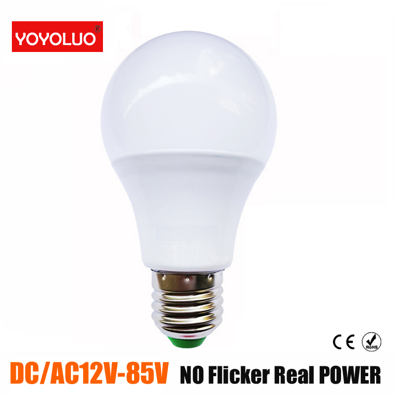 [YOYOLUO]LED Bulb Lamp AC/DC 12V 24V 36V E27 3W 6W 9W 12W 15W Energy Saving Lampada 12Volts Led Light Bulbs For Outdoor Lighting(China)
