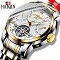 HAIQIN männer uhren mechanische Herren Uhren top marke luxus automatische uhr männer gold wirstwatch männlichen Tourbillon Reloj hombres